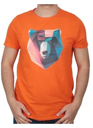 Bad Bear Erkek Tişört Polygon 210107042-Wht Oranj